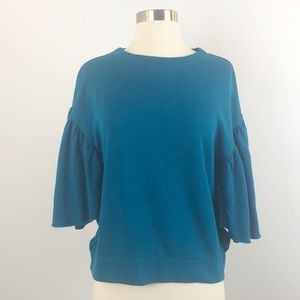 Abound Cropped Top Oversized Teal Small